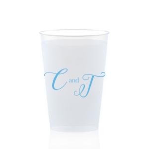 Elegant Initials Frost Flex Cup