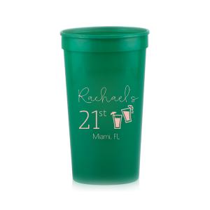 Birthday Drink Stadium Cup
