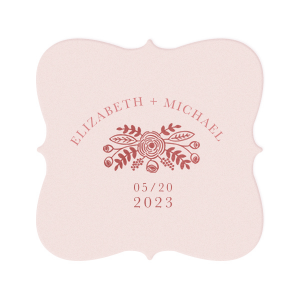 Hand Drawn Wedding Bouquet Coaster