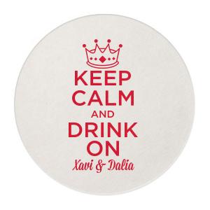 Keep Calm Crown Coaster