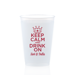 Keep Calm Crown Frost Flex Cup
