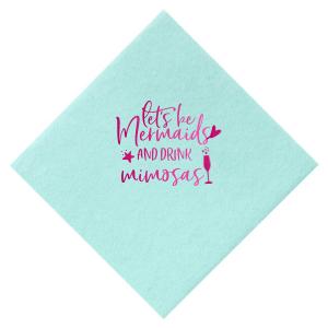 Mermaids Drink Mimosas Napkin