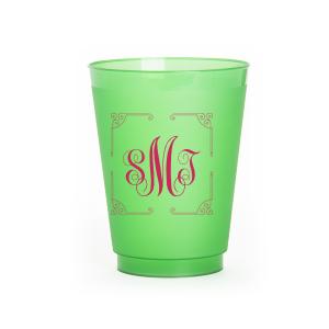 Ornate Border Monogram Frost Flex Cup