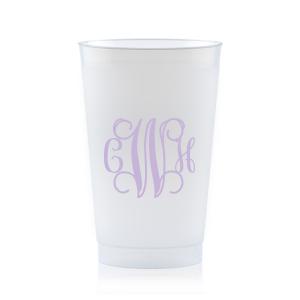 Vine Monogram Frost Flex Cup