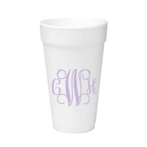 Vine Monogram Foam Cup