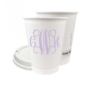 Vine Monogram Paper Cup