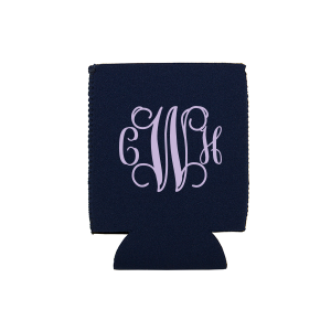 Vine Monogram Can Cooler