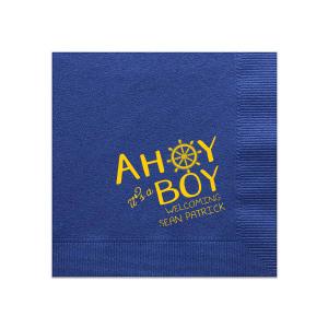 Ahoy It's A Boy Napkin