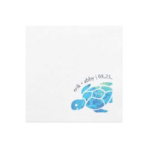Sea Turtle Photo/Full Color Napkin
