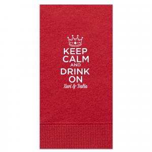 Keep Calm Crown Napkin