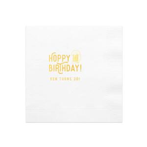 Hoppy Birthday Napkin