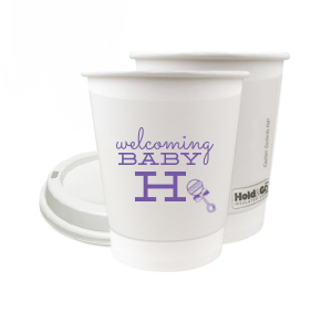 Welcoming Baby Initial Paper Cup