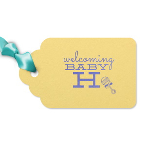 Welcoming Baby Initial Tag