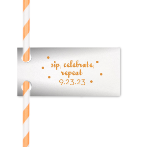 Sip, Celebrate Straw Tag
