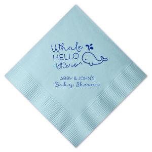 Whale Hello There Napkin
