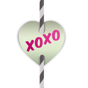 XOXO Straw Tag