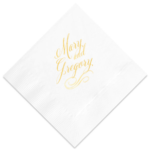 Elegant Script Napkin