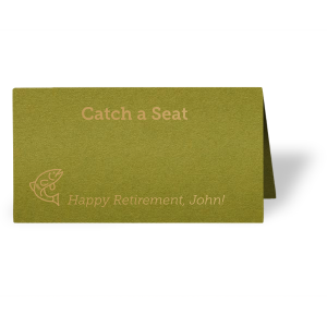 Catch a Seat Place Card