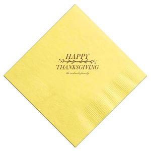 Twiggy Thanksgiving Napkin