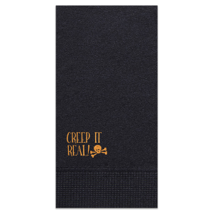 Creep It Real Skull Napkin