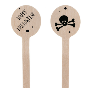 Happy Halloween Skull Stir Stick