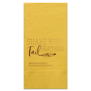 Shake your Tail Feathers Napkin