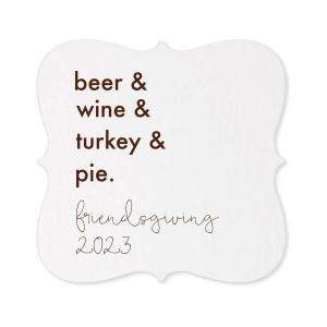 Turkey & Pie Coaster