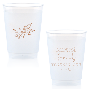 Thanksgiving Leaves Frost Flex Cup
