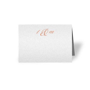 Initials Place Card