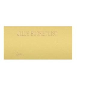 Bucket List Flat Place Card