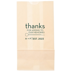 Thanks For the Memories Bag
