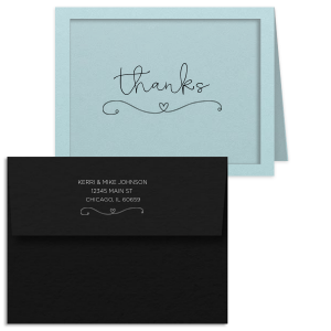 Heart Flourish Thank You Card