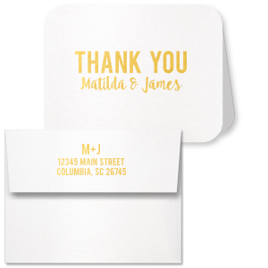 Modern Thank You Card