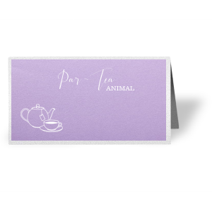 Par-Tea Animal Place Card