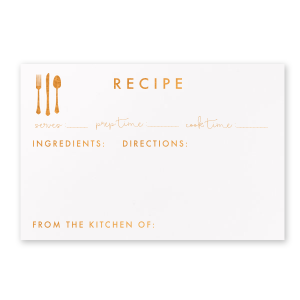 Table Setting Recipe Card