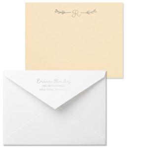 Split Leaf Flourish Note Card with Envelope