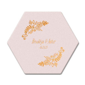 Rustic Floral Coaster