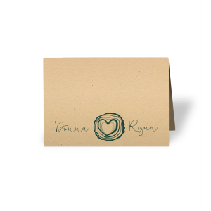 Tree Heart Place Card