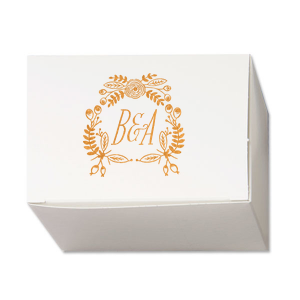 Rustic Floral Cake Box