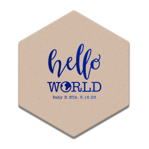 Hello World Baby Coaster