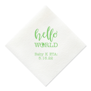 Hello World Baby Napkin