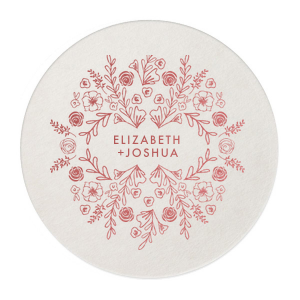 Floral Collage Coaster