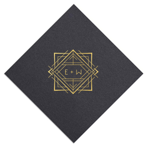Deco Initials Wedding Napkin