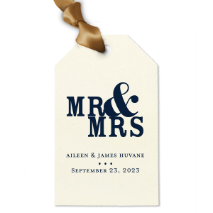 Mr and Mrs Gift Tag