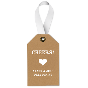 Cheers Heart Gift Tag