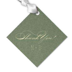 Elegant Thank You gift Tag