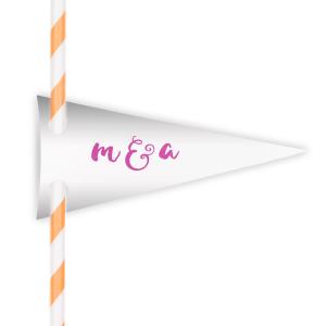 Initials Straw Tag