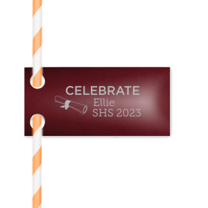 Graduation Celebration Straw Tag