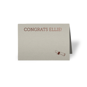 Graduation Scroll Place Card