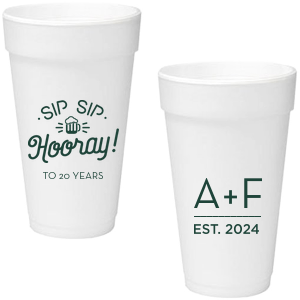 photo of Personalized 20oz Foam Cups